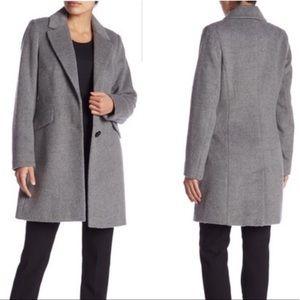 NWT Sam Edelman Flap Pocket Wool Blend Coat